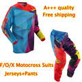 NEW Pants T-shirt Race Motocross Suit motorcycle jersey moto clothing T-Shirts suits set Racing Cross country off-road