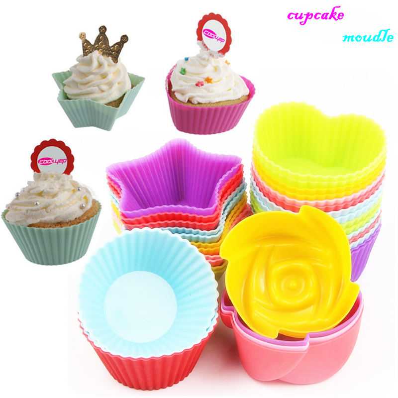 6 Colors Muffin Cupcake Mold Free Shipping Dia 7cm