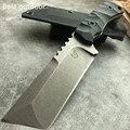 Сверхмощный титановый Танто Тактический фиксированный нож наивысшего качества D2 лезвие охотничий нож выживания джунгли кемпинг инструмен...