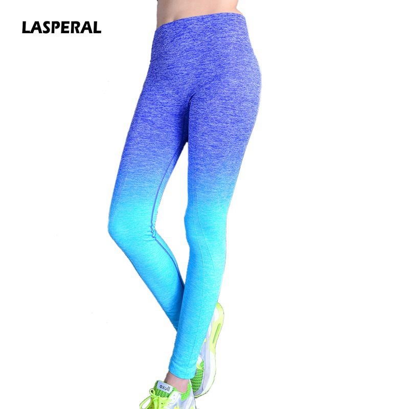 LASPERAL High Elastic Women Yoga Pants Compression Tights Fitness Women Night Running Trousers Gym Dry Quick Sports Leggings