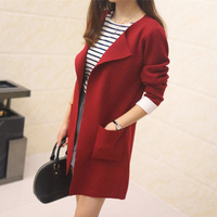 Autumn And Winter Sweater Female Top Medium Long Trench Loose Women S Cardigan