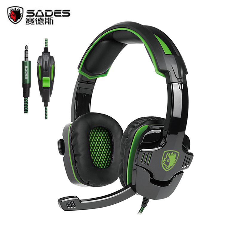 2016 Newest Sades SA-930 PS4 Headset 3.5mm Stereo Computer Gaming Headphones With Mic For PC Gamer Mobile Phones Mac Tablet MP3
