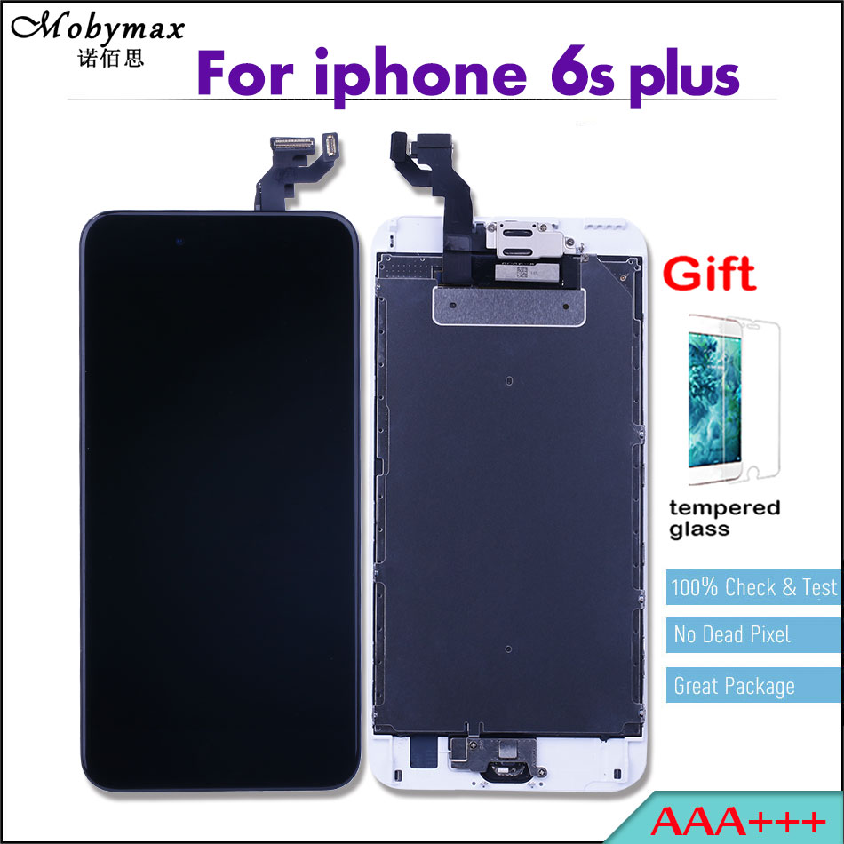 Mobymax Ecran for iPhone 6s Plus 5.5 Pantalla Repair LCD Full Assembly Touch Screen Digitizer Display+Home Button+Front Camera