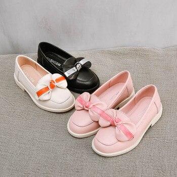 Chaussures Mocassins Pour Bébés | Nouveau 2019 Automne Enfants Gland Chaussures Enfants Bow Chaussures Bébé Filles En Cuir Véritable Mocassins Marque Noir Mocassin Mode école Appartements