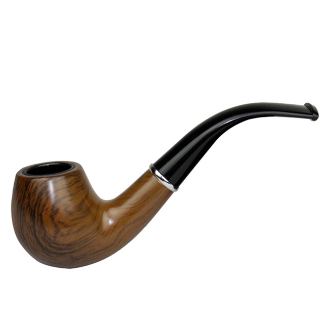 Classic Wood Grain Resin Pipe Chimney Filter Long Smoking Pipes Tobacco Pipe Cigar Gifts Narguile Weed Grinder Smoke Mouthpiece