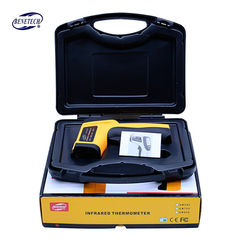 Digital IR infrared thermometer Non Contact Laser Point gun infrared thermometer -58 ~700C Free Shipping GM700(With Box) цена