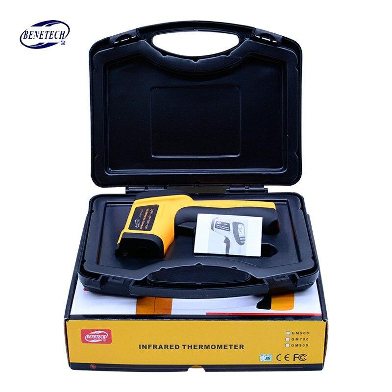 Digital di IR termometro a infrarossi Senza Contatto del Laser pistola del Punto termometro a infrarossi-58 ~ 700C Trasporto Libero GM700 (Con box)