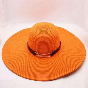Image 3 - BINGYUANHAOXUAN Per Le Donne Sole di Estate Del Cappello Unisex Cappello Panama 2018 di Nuovo Modo di Arrivo di Paglia Della Protezione Della Spiaggia