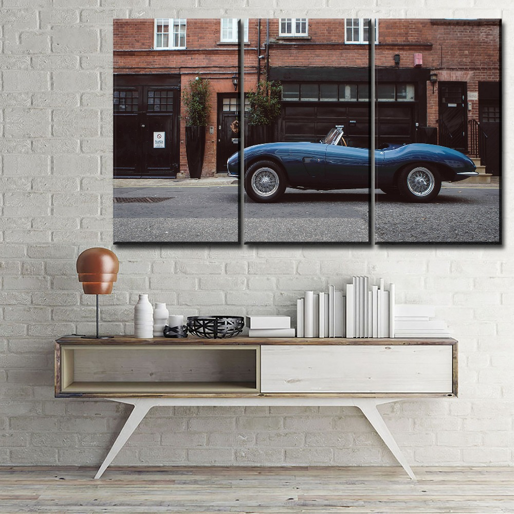 Home Decorator Coupon: Modern Artwork 3 Panel Aston Martin Db2