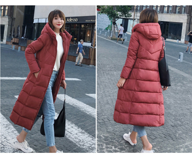 Long, down jacket, female long knee, 2018 new cotton suit, women's mid length cotton wear, Korean version, winter jacket tide.