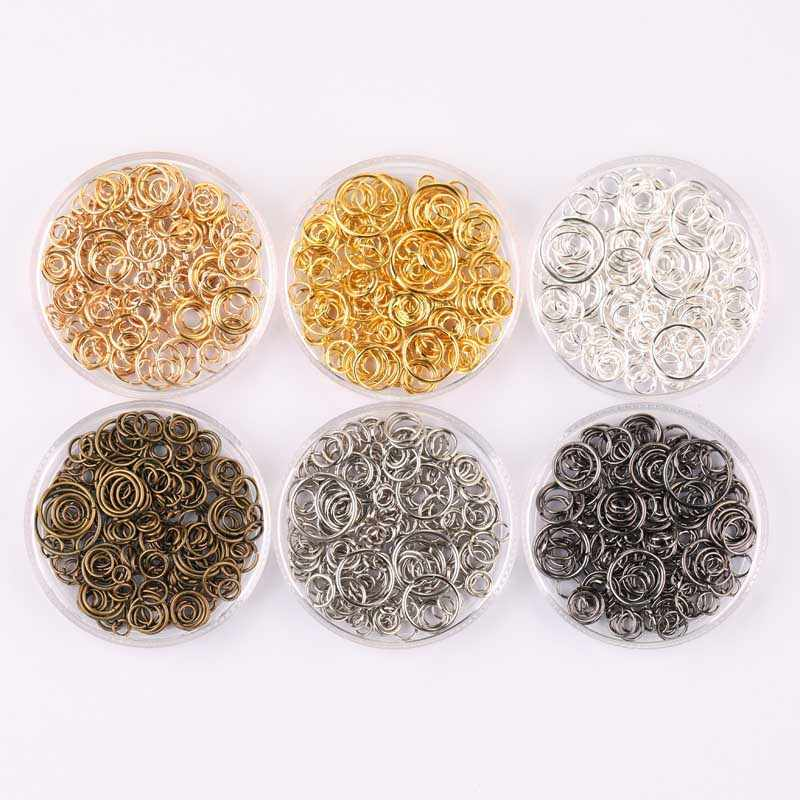 200pcs Jump Split Rings KC Gold Silver Gun black Color for Jewelry Ornament Opening Connection ring