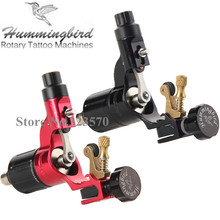 Pro 2pcs Black&Red Original Hummingbird V2 Swiss Motor Rotary Tattoo Machine kit liner & shader Free RCA Cord