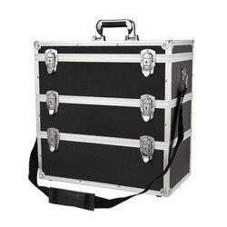 Caja de Herramientas, caja de herramientas con combinación multicapa, caja de herramientas portátil multifunción, gran capacidad de reparación, caja de coche de aleación de aluminio