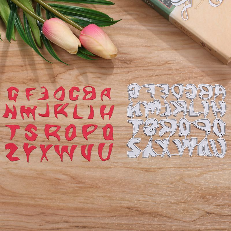 26PCS A-Z Alphabet Metal Cutting Dies Stencils For Card Making Decorative Embossing Suit ...