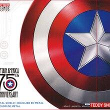 60 см Капитан Америка щит 1:1 Стив Роджерс Алюминиевый металлический щит Фильм Косплей Хэллоуин подарок/реквизит