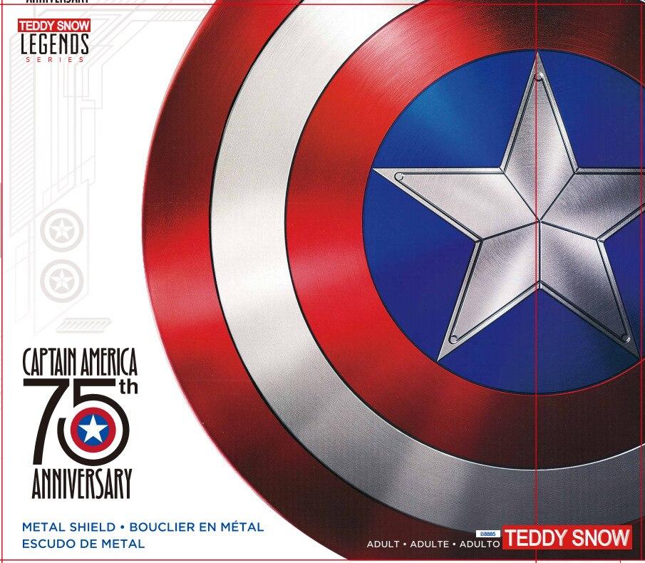 60 CENTÍMETROS Capitão América Escudo 1:1 Steve Rogers Escudo de Alumínio do Metal Filme Cosplay Presente do Dia Das Bruxas/prop