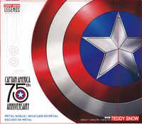 60CM Capitán América escudo 1:1 de Metal de aluminio de Steve Rogers película Cosplay Halloween REGALO/utilería