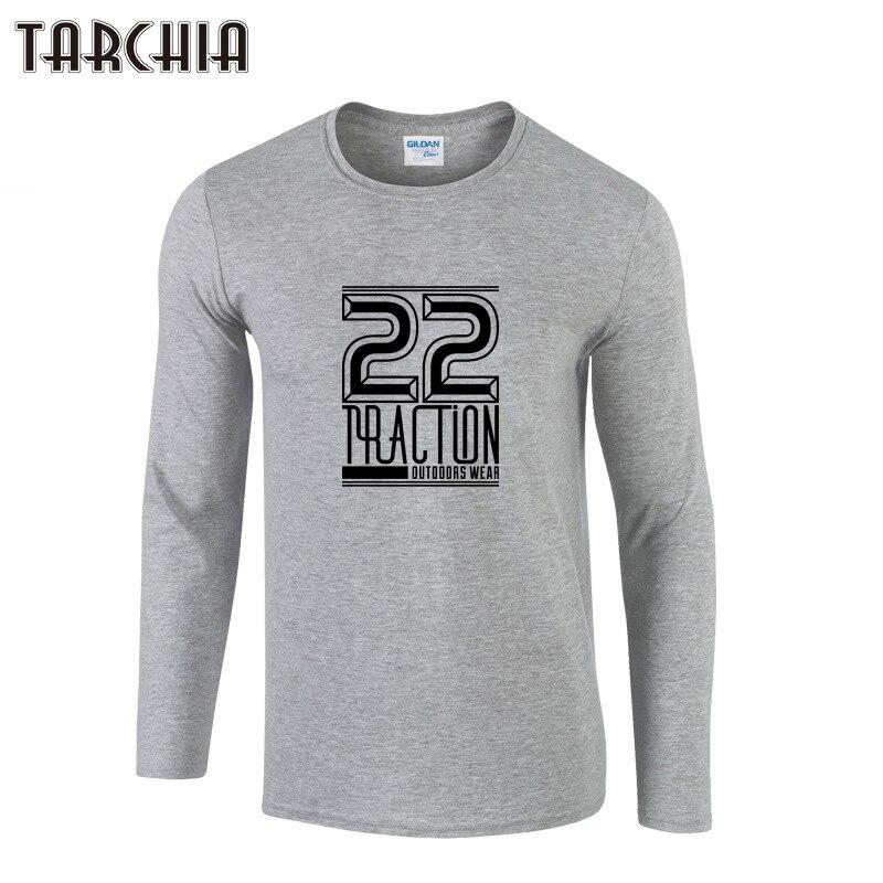 TARCHIA Men's Printed T-shirt Long Sleeve Cotton Slim Men Tops T Shirts Autumn Winter Fashion Casual Style Tees Shirts Homme