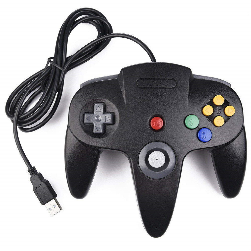 Wired Usb Gamepad Joystick N64 Classic Game Controller