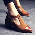 2017 new strap high heel shoes women ankle pumps high-heel pointed toe women shoes leather sandals ladies shoes sapato feminino