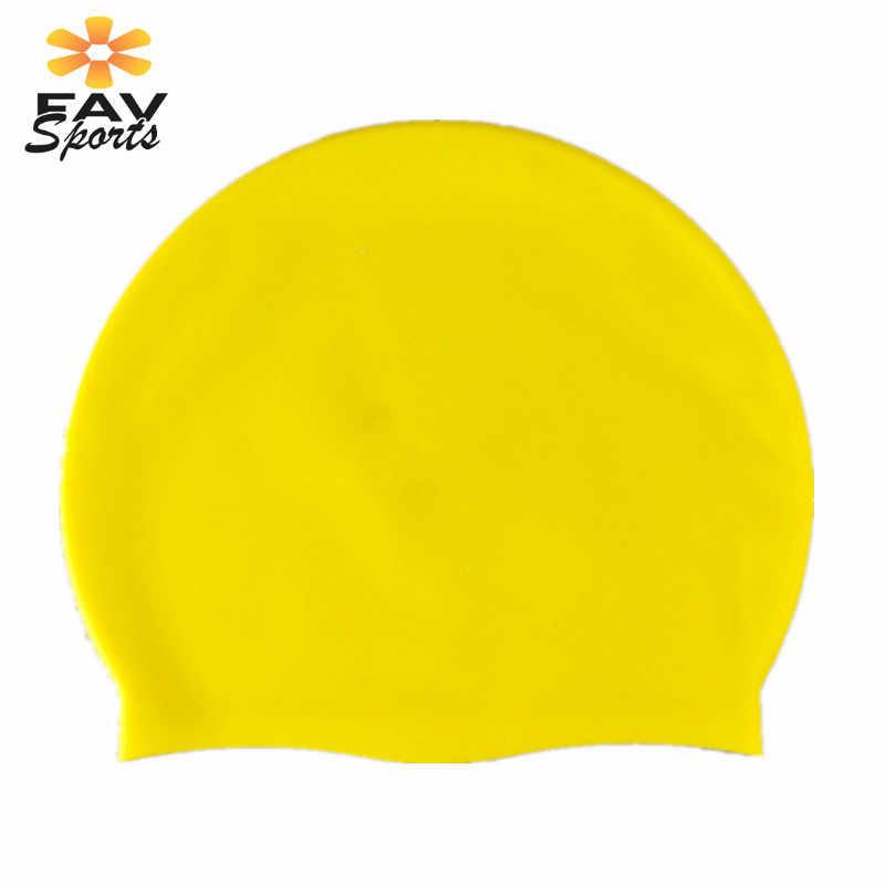 5 色水泳柔軟な防水ロングヘアカバーユニセックスダイビング水泳世論調査キャップヘッドカバー耳プロテクター帽子 1 ピース