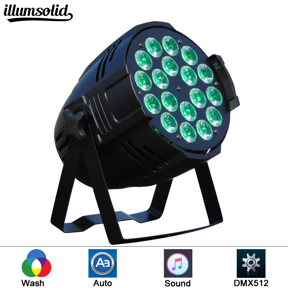 Aluminum LED Par 18x12W RGBW LED Par Can Par 64 led spotlight dj projector wash lighting
