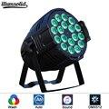 Алюминиевый LED Par 18x12W RGBW LED Par Can Par 64 Светодиодный прожектор dj проектор для мытья освещения сцены