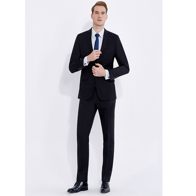 Smart Casual Classic Black Business Style Suit Slim Fit for Men ...