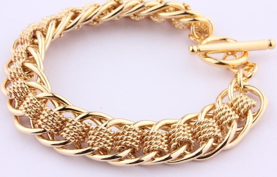 Браслет из желтого золота цена