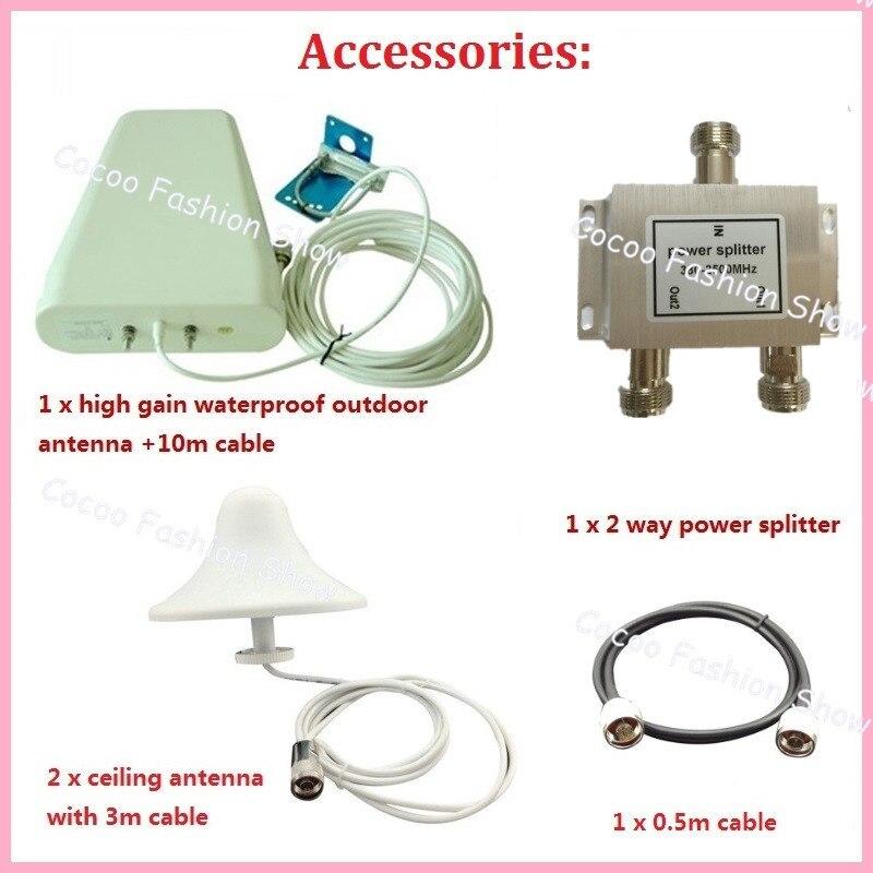 Affichage LCD GSM 900mhz DCS 1800mhz double bande Booster 4G répéteur de Signal de téléphone portable amplificateur de signal cellulaire + antennes - 6