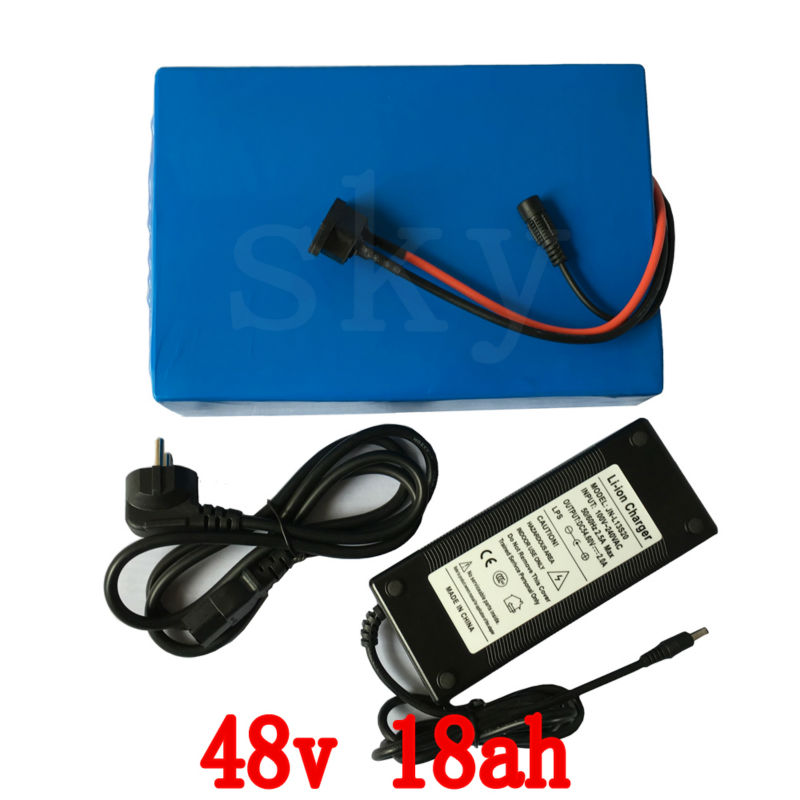 48v eBike Battery 18Ah 1000w Lithium Scooter Battery 48v with 54.6v 2A charger 30A BMS Electric Bike Battery 48v Free Shipping e bike battery 48v 15ah 1000w use for samsung 3000mah cells built in 30a bms with 2a charger lithium battery 48v free shipping