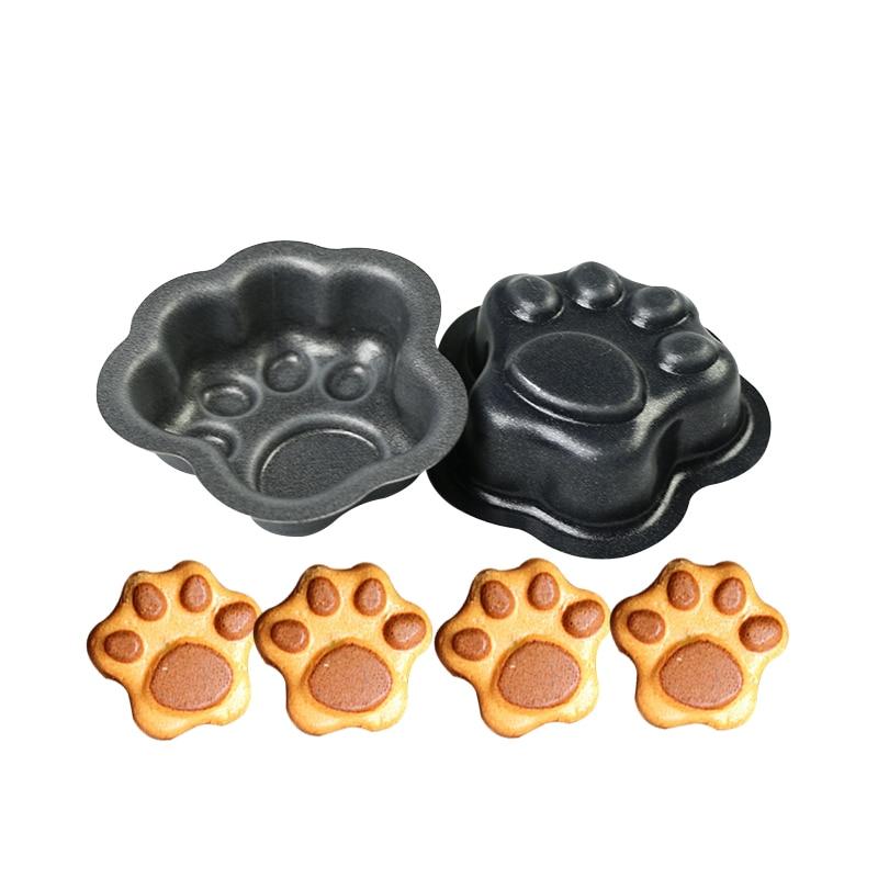 JOINHOT Mould 3D Sugarcraft Mold Cake Fondant Chocolate Cat Dog Bear Paw Decorating Tin Baking Metal  DIY Cookie