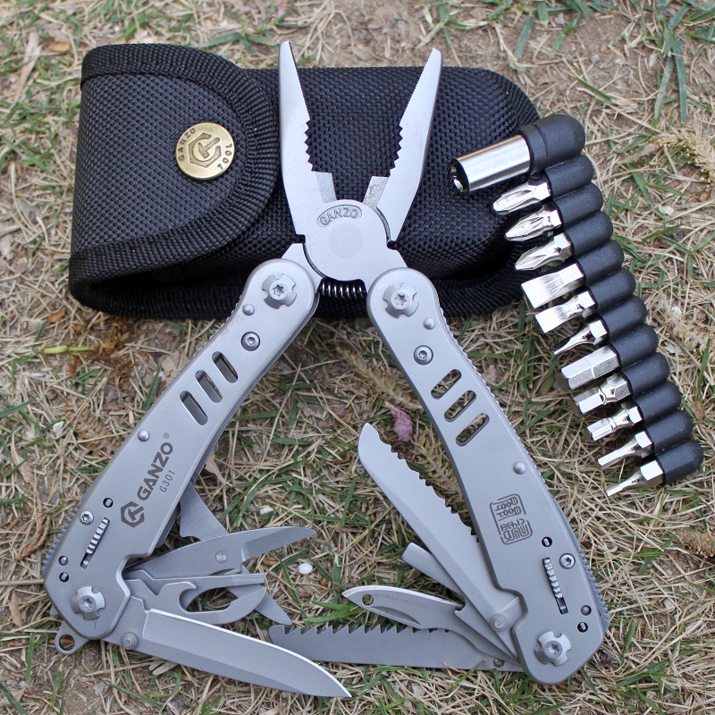 Купить с кэшбэком Ganzo Knife Tools G301B Folding Plier Outdoor Survival Camping Fishing Huntsman Knives EDC Multi Purpose Pliers Multifunctional