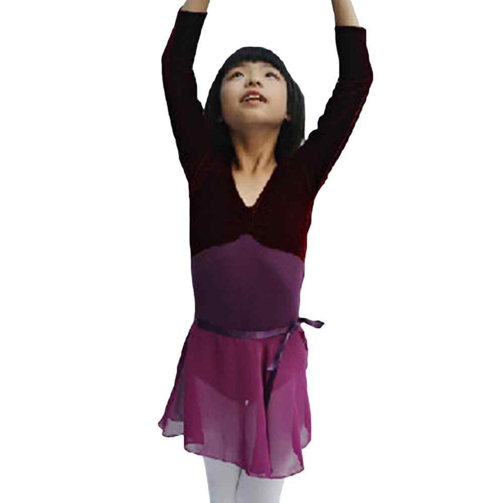 Kızlar için profesyonel Leotard classicalBallet Tutu balerin dans sınıfı kostümleri yetişkin çocuk Leotard Dancewear bağlı etek dans
