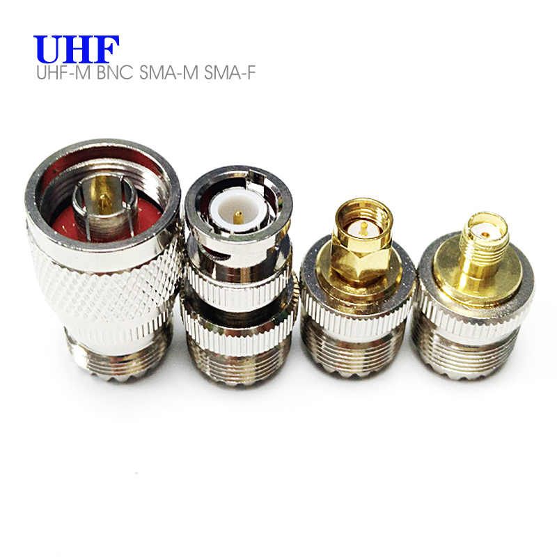 4 Pieces / Set SO239 PL259 SL16 SMA Female BNC UHF SMA Male to UHF Female RF Coaxial Coax Connector Adapter For Antenna