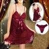 Hot Red Plus Size M L XL XXL XXXL XXXXL 4XL Women Sexy Lingerie Babydoll Chemise