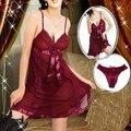 Hot! Mais vermelho Tamanho M L XL XXL XXXL XXXXL 6XL mulheres Sexy Lingerie Babydoll Chemise Nightdress Pijamas Underwear Robe Noite vestido