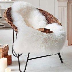 Enipate imitacja wełniana skóra Sofa mata dywanowa poduszka pływająca mata okienna salon koc do sypialni 60x90cm