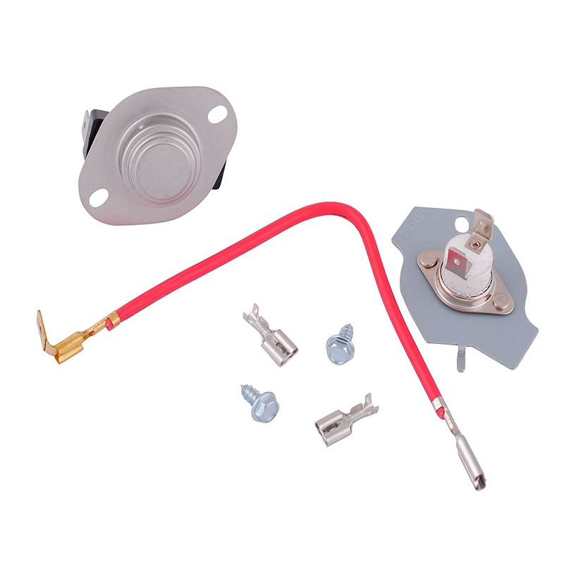 1pc Thermostat Kit With Cut Off Fuse  U0026 Connection Hardware For Whirlpool Dryer 279816 Sa011