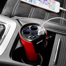 BESTEK 5 В/3.1A Двойной Автомобилей USB Зарядное Прикуривателя Автомобильное зарядное Устройство Адаптер 12 В Сплиттер Сигареты ИНДИКАТОР Батареи дисплей Легче