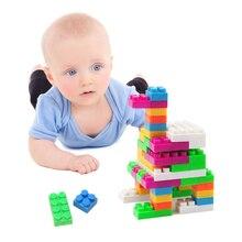 unidslote nios jugando juegos de construccin de bloques de juguete juguetes educativos para nios bloques de ladrillos de juguete con el barril de