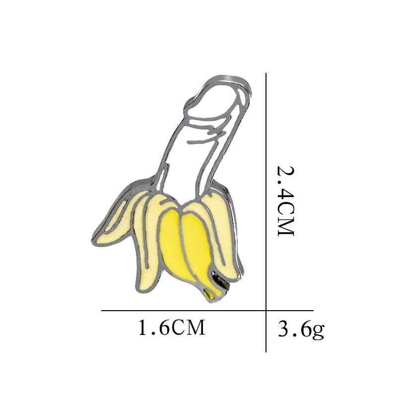 Hot Banana Pins Broches pins de lapela esmalte Duro Mochila Sacos para Homens Jaquetas Mulher Engraçada Acessórios Jóias Presente para amigos