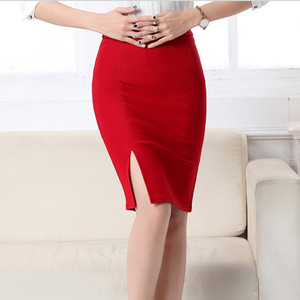 Image 4 - 2017 חדש נשים פורמליות עבודה ללבוש חצאיות גבירותיי סקסי גבוהה מותן מיני עיפרון חצאית 7 צבעים למתוח חבילה ירך SP5602