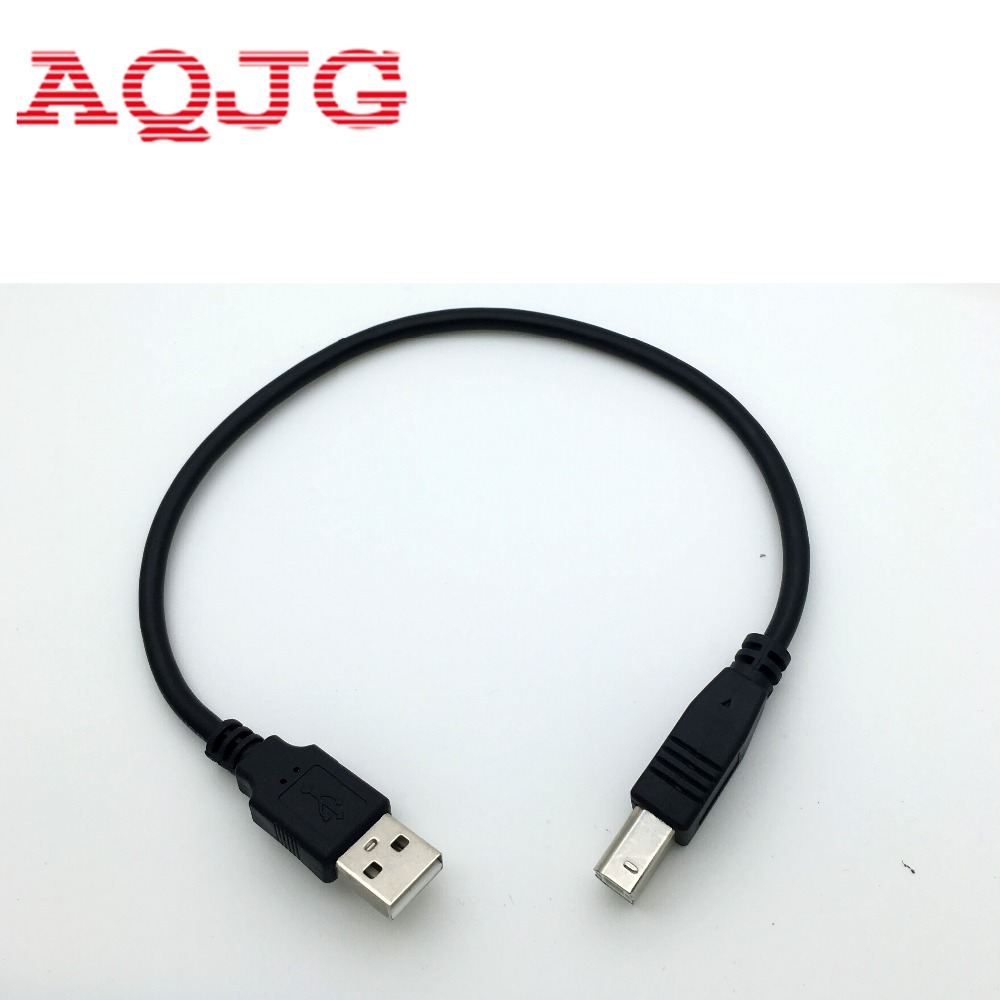 30cm USB 2.0 Type A Male to B Male ( AM to BM ) Adapter Converter Short Data Cable Cord for Epson Printer  Black best price portable usb 2 0 type a male to usb type b female plug extend printer adapter converter new arrival for
