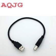 Adaptador USB 2,0 tipo A macho A B macho (AM A BM) de 30cm, convertidor de Cable de datos corto para impresora Epson, color negro