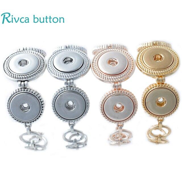 P00685  Snap Button Bracelet&Bangles Newest Design  Snap Button Zinc Alloy Charm Bangles 18mm Rivca Snap Button Jewelry