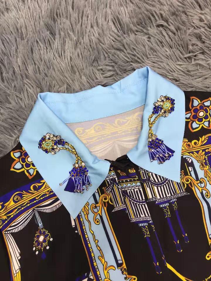 Supérieure Nouvelle Style Célèbre Ah03750 Design Européenne Mode Printemps Marque Robe 2019 Partie De Qualité Femmes Luxe E5Eqav4