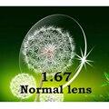 Oi index1.67 fina resistência ao impacto CR-39 lentes de prescrição normal/anti-scratch