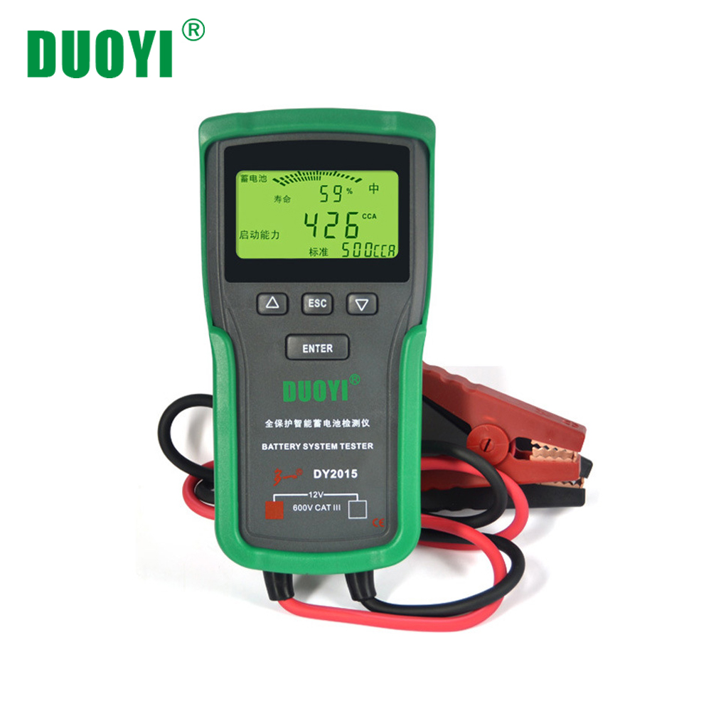 DUOYI DY2015 12V Car Battery System Tester Capacity Maximum Electronic load Battery Charge Test+English manual