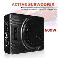KROAK Universal 10 600W Slim Under Seat Powered Car Truck Subwoofer Amplifier Amp Super Bass